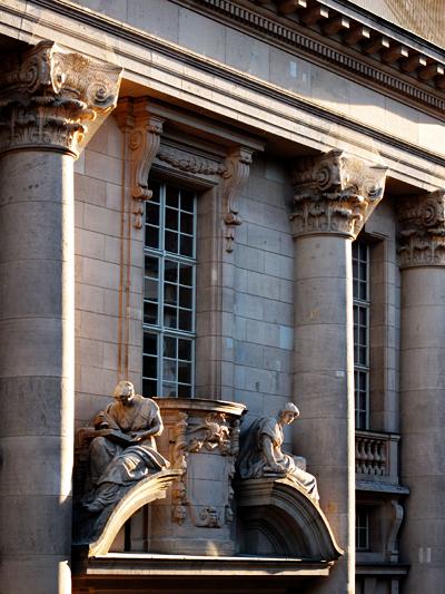 Rückwärtige Ansicht der Staatsbibliothek Berlin / Unter den Linden