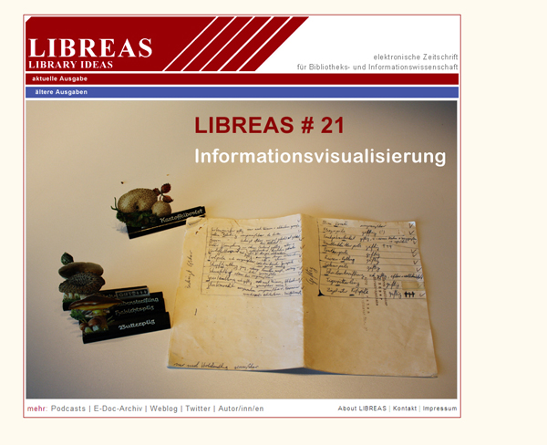 Cover LIBREAS 21 - Informationsvisualisierung