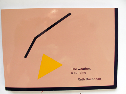 "Cover Ruth Buchanan ""The weather, a building"""