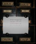 Katalogkarte. In der Biblioteca Comunale dell'Archiginnasio