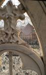 Festgeklemmt. Auf dem Dom von Milano.