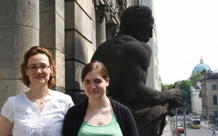 Evelyn Dröge und Violeta Trkulja / SWiF 2014 am IBI