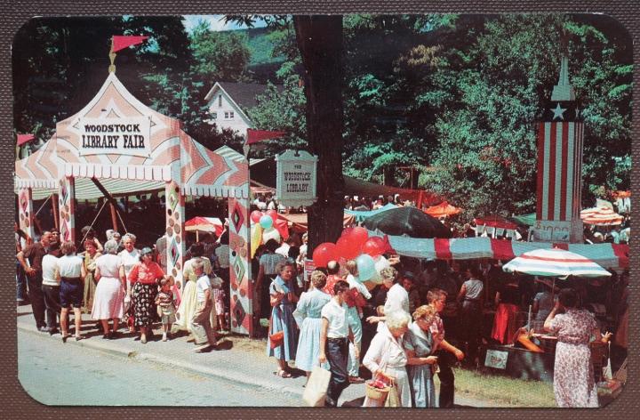 Ansichtskarte Woodstock Library Fair