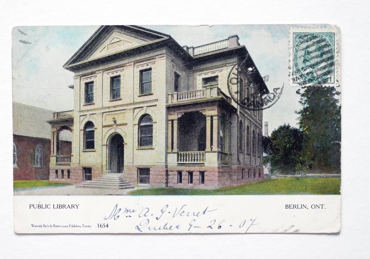 Ansichtskarte - Berlin, Ontario, Public Library