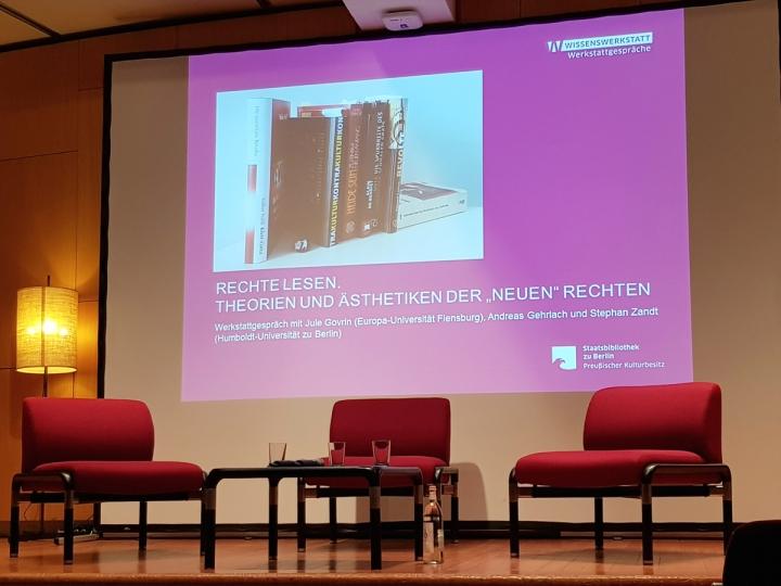 """Veranstaltung """"Rechte Lesen"""" in der Staatsbibliothek Berlin im November 2018"""
