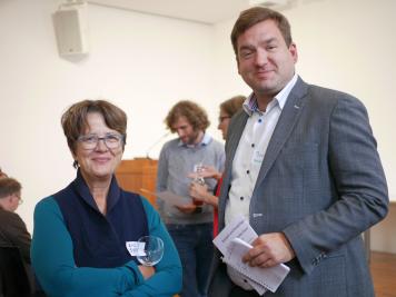 Beate Rusch (KOBV) und Boris Jacob (Uni Potsdam)