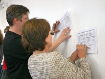 """Kooperatives Arbeiten zur Frage: """"Welche Vorteile bringt (Research) Data Sharing?"""""""